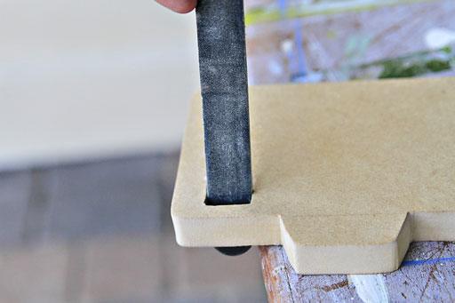 Using a nail file to sand small areas via lilblueboo.com