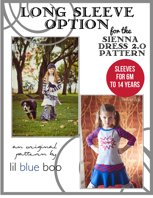 Long Sleeve Option for Sienna 2.0 Sewing Pattern via lilblueboo.com