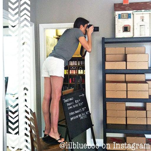 Craft Space Ideas via lilblueboo.com #decor #office #diy #homedecor #organization #thrifting