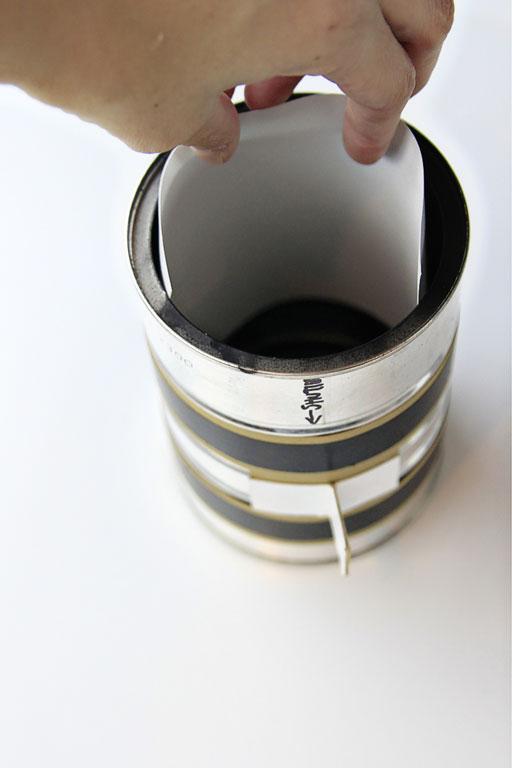 Using photographic paper as film via lilblueboo.com #photography #darkroom #pinhole #pinholecamera
