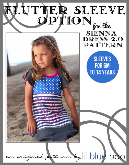 Flutter Sleeve Option for The Sienna Dress 2.0 PDF Sewing Pattern and Tutorial via lilblueboo.com