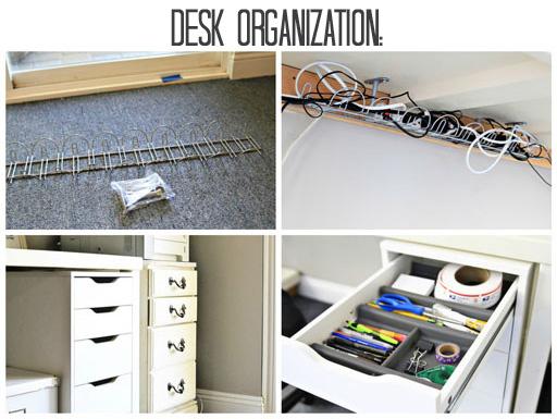 DIY Organization Hacks office desk organization ideasvia lilblueboo.com #decor #office #diy #homedecor #organization #thrifting