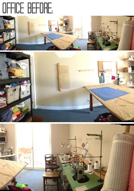 Office Makeover Re-decorating BEFORE via lilblueboo.com #decor #office #diy #homedecor #organization #thrifting