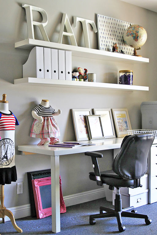 Office and Home Decor Ideas AFTER via lilblueboo.com #decor #office #diy #homedecor #organization #thrifting