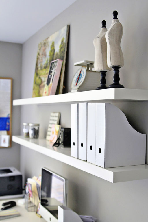 Office and Craft Room Decor and Organization via lilblueboo.com #decor #office #diy #homedecor #organization #thrifting
