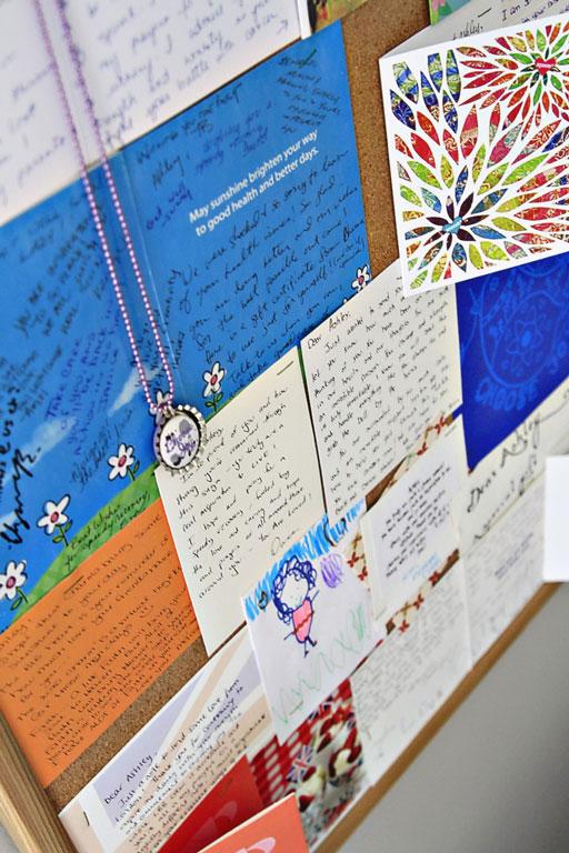 Displaying Cards via lilblueboo.com #decor #office #diy #homedecor #organization #thrifting