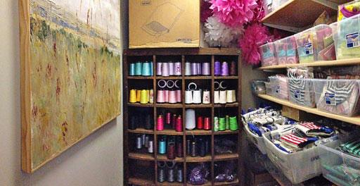 craft room organization via lilblueboo.com #decor #office #diy #homedecor #organization #thrifting