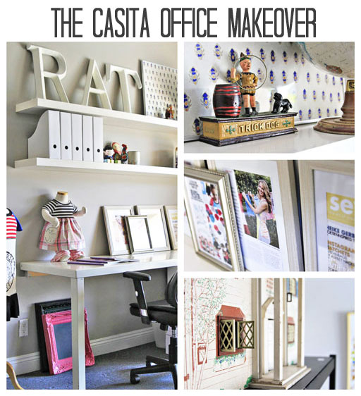 DIY Office Makeover Ideas Via Lilblueboo.com #decor #office #diy #homedecor