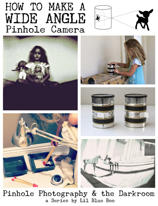 Pinhole Photography: Making A Wide Angle Pinhole Camera via lilblueboo.com #photography #darkroom #pinhole #pinholecamera