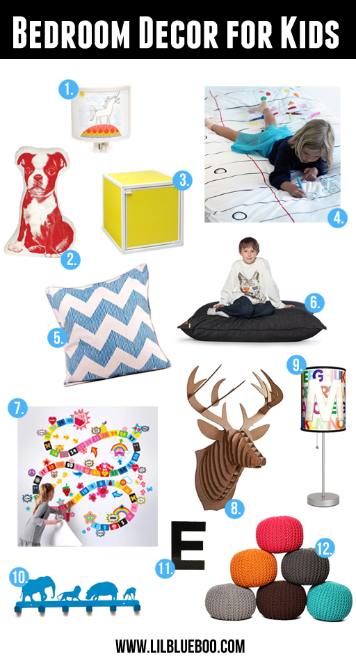 Bedroom Decor Idea for Kids via lilblueboo.com