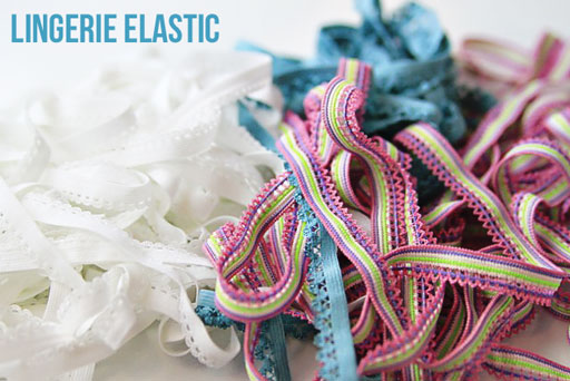where to buy lingerie elastic for shoe laces via lilblueboo.com