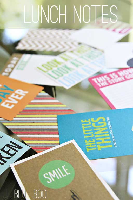 Journaling Cards are easy lunch notes! Easier than printable lunch cards! via lilblueboo.com #backtoschool #schoollunch #lunchnotes #journalingcards