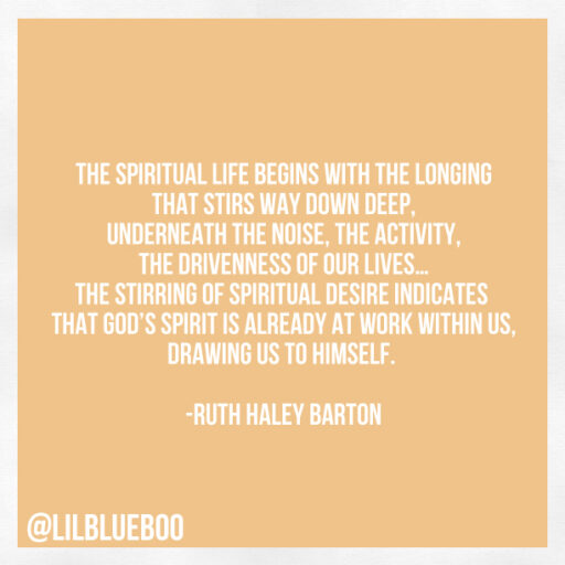 on a spiritual life via lilblueboo.com #quote