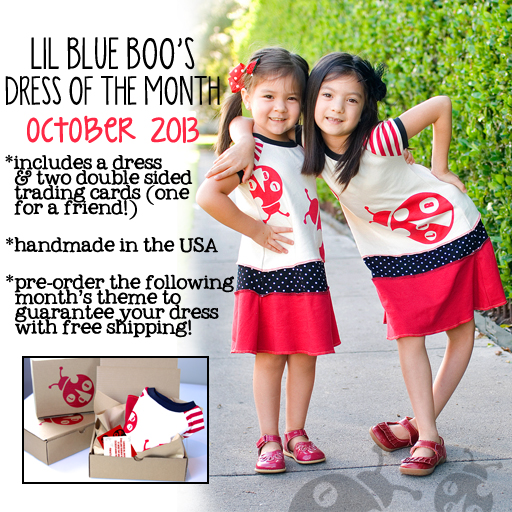 The Lil Blue Boo October 2013 Dress of the Month via lilblueboo.com #ladybug