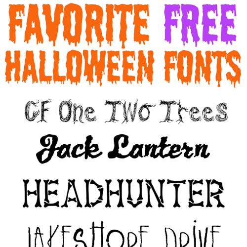 favorite free halloween fonts - Ashley Hackshaw / Lil Blue Boo