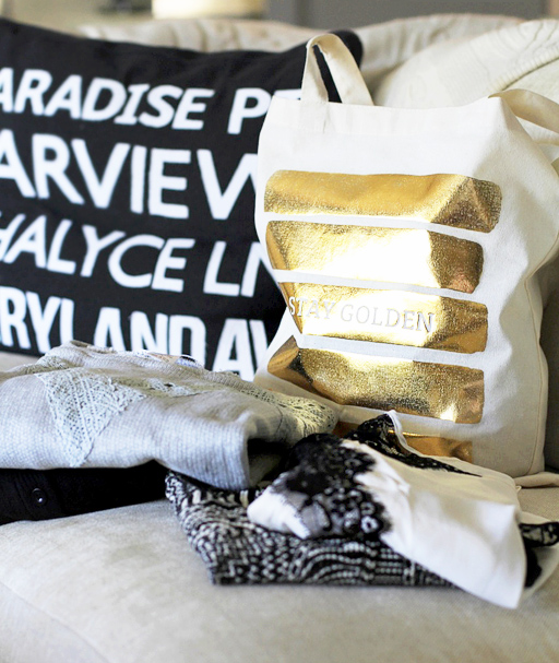The Ultimate Surprise Grab Bag from Golden Tote filled with clothing and accessories for women via lilblueboo.com #goldentote