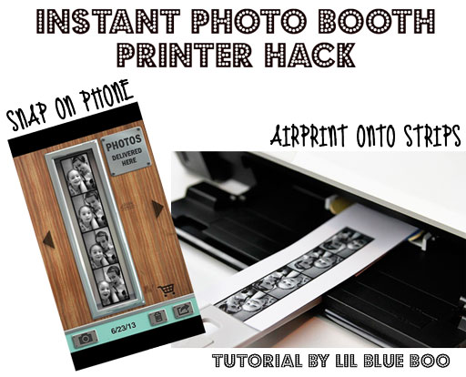 Instant Photo Booth Printer Hack via lilblueboo.com