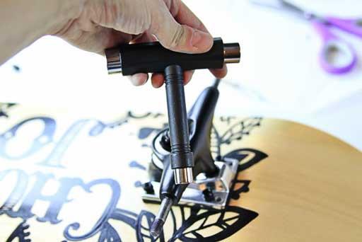 How to use a skateboard tool  via lilblueboo.com #skateboard #diy #gift #handmade