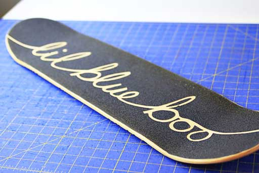How to seal and finish a skateboard  via lilblueboo.com #skateboard #diy #gift #handmade