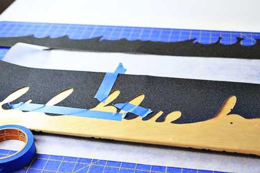 How To: Make a Custom Grip Tape Design  via lilblueboo.com #skateboard #diy #gift #handmade
