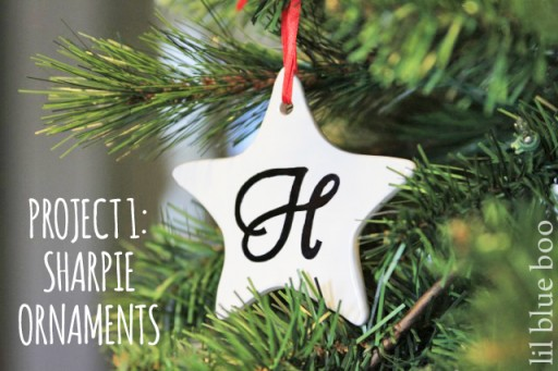 4 Pinterest Party Craft Projects: Sharpie Marker Art Ornament via lilblueboo.com #sharpie