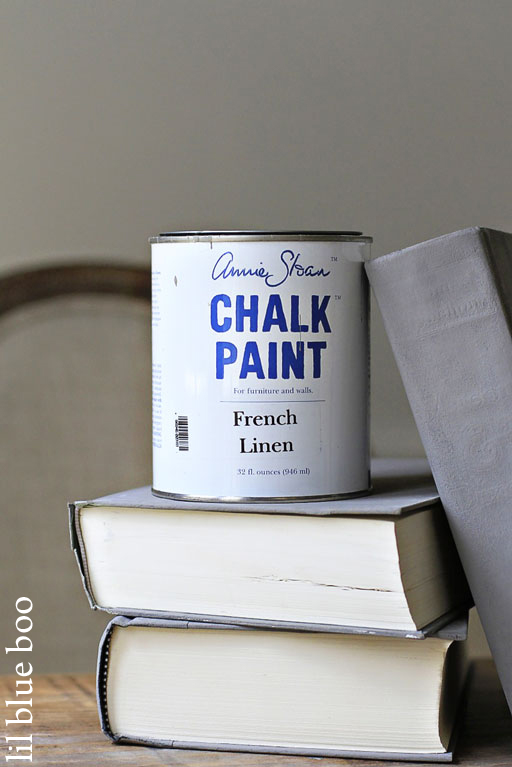 Chalk Paint Book Tutorial via lilblueboo.com #chalkpaint