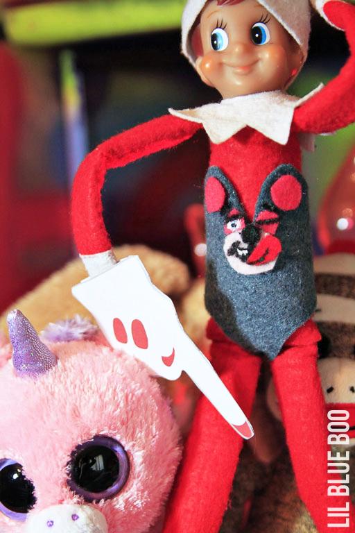 Miley Cyrus Elf on the Shelf 101 Elf Ideas via lilblueboo.com #elfontheshelf