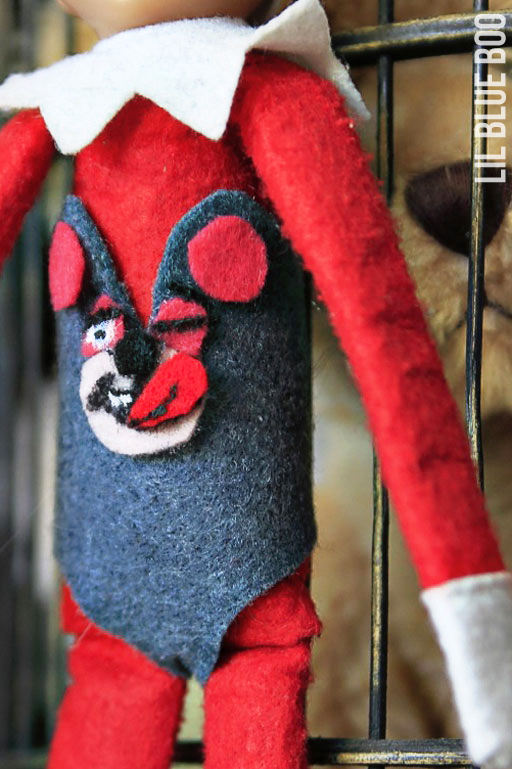 Miley Cyrus Elf on the Shelf via lilblueboo.com #elfontheshelf Wrecking Ball