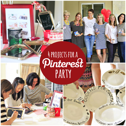 How to throw a Pinterest party and 4 projects to get you started. Includes free instruction downloads! via lilblueboo.com #mpinterestparty