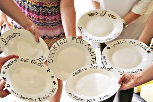 Finished Plates! Sharpie Marker Plate Craft Project for a Pinterest Party via lilblueboo.com #sharpie