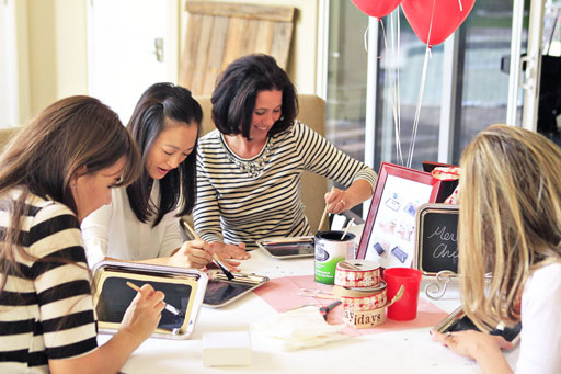 How to Throw a Pinterest Craft Party with 4 Project Ideas via lilblueboo.com