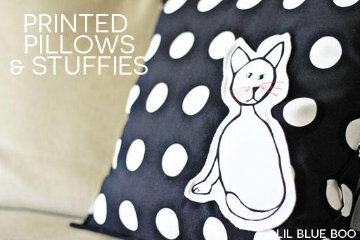 turn kids artwork into stuffies and stuffed animals via lilblueboo.com