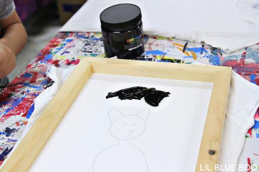 DIY Small Batch Screen Printing Tutorial via lilblueboo.com  embroidery hoops