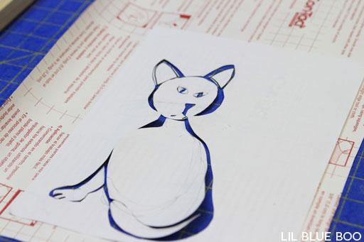 Screenprinting Techniques: Using Contact Paper via lilblueboo.com
