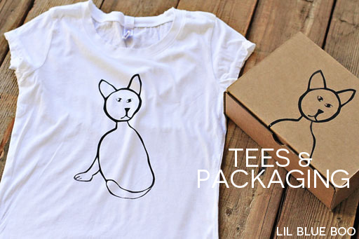 how to make your own t-shirts and print your own boxes via lilblueboo.com