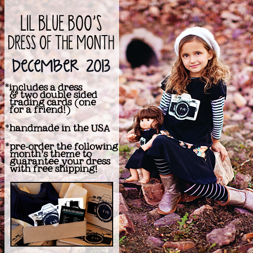 The Lil Blue Boo December Dress of the Month photographed by Laura Winslow Photography via lilblueboo.com