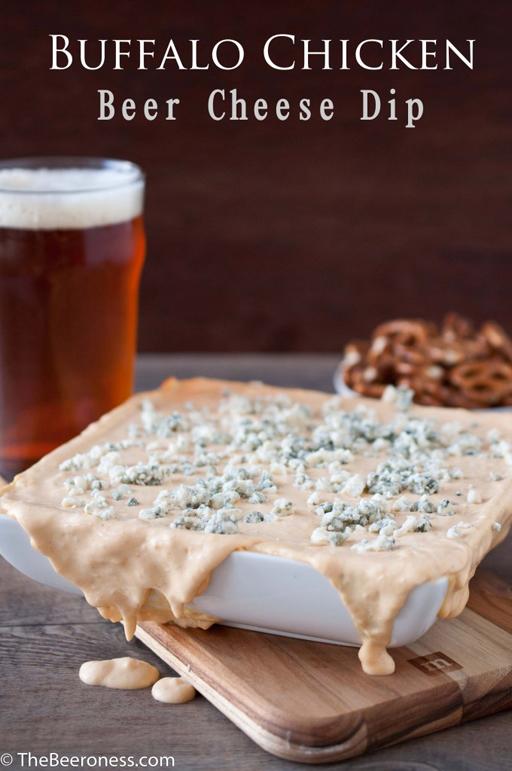 Football Food: Buffalo Chicken Beer Cheese Dip via The Beeroness    Ashley Hackshaw / lilblueboo.com