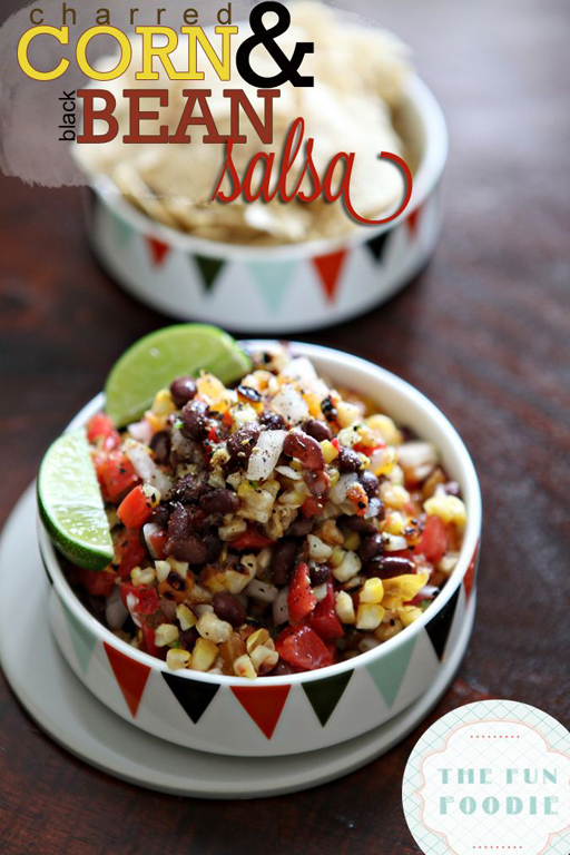Football Food: Charred Corn and Black Bean Salsa via The Perch | Ashley Hackshaw / lilblueboo.com