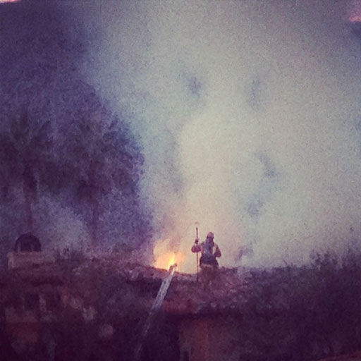 Fire in Palm Desert Calfire