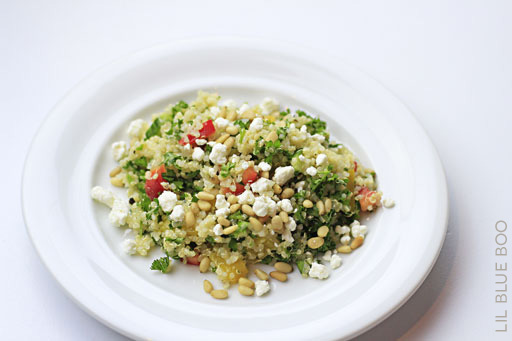 Adapted Costco quinoa tabouleh / tabouli recipe