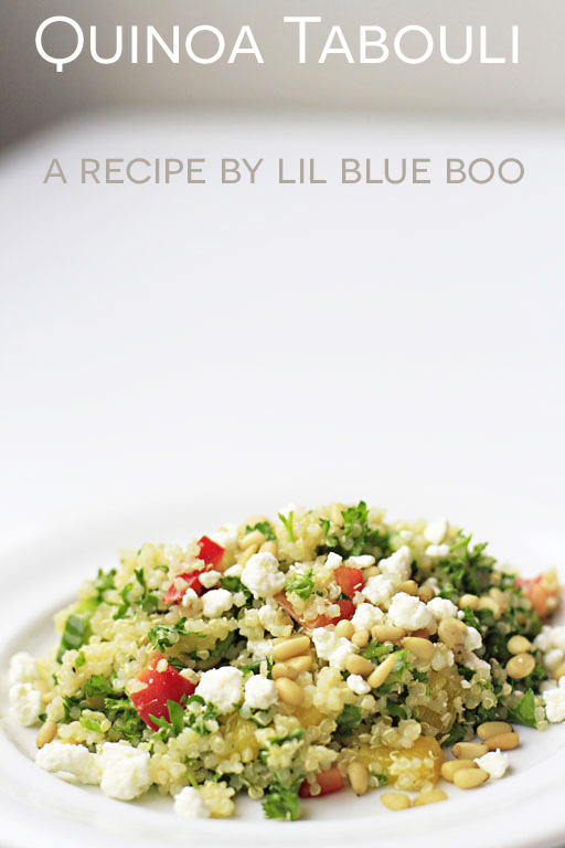 Quinoa Tabouli (or Tabouleh) Recipe adapted from Costco via lilblueboo.com #recipe #quinoa #tabouli #recipe