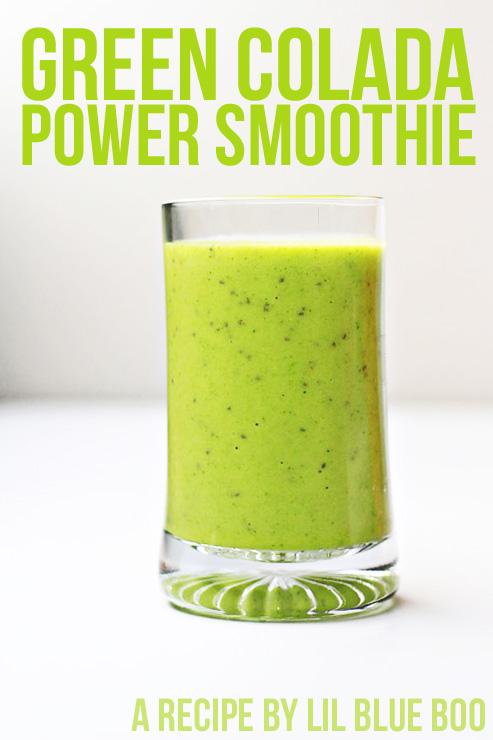 green colada power smoothie