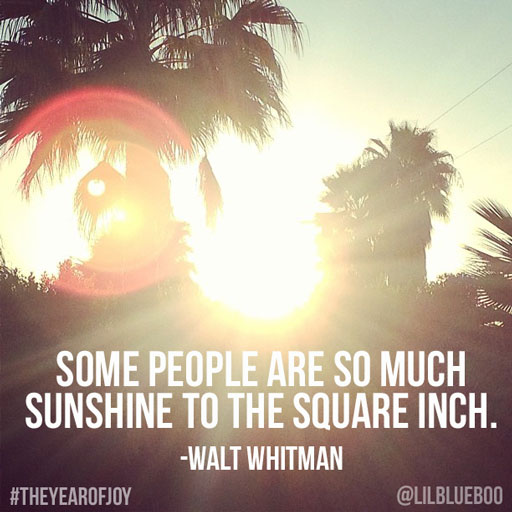 Sunshine - Joy Quote #theyearofjoy #joy #happiness #quote