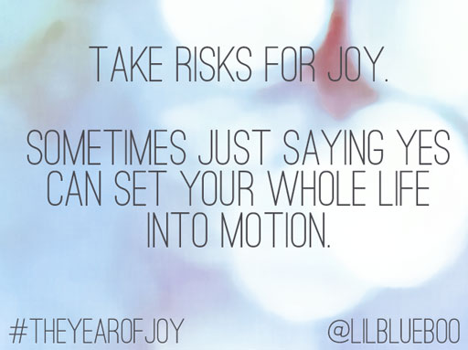 On being vulnerable and taking risks #theyearofjoy series by Ashley Hackshaw / Lil Blue Boo #joy #quote