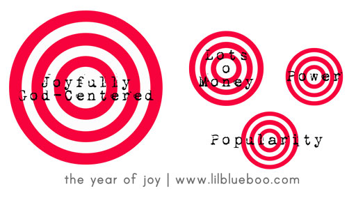 Creating a Bigger Target. #theyearofjoy The Year of Joy: A 31 day series on joy by Ashley Hackshaw / Lil Blue Boo #quote #resolution #choosejoy
