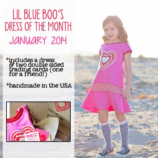 The January 2014 Dress of the Month via Ashley Hackshaw / lilblueboo.com