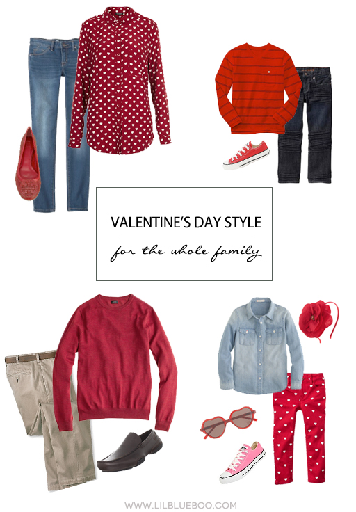 Valentine's Day Style for the Whole Family via Ashley Hackshaw / lilblueboo.com