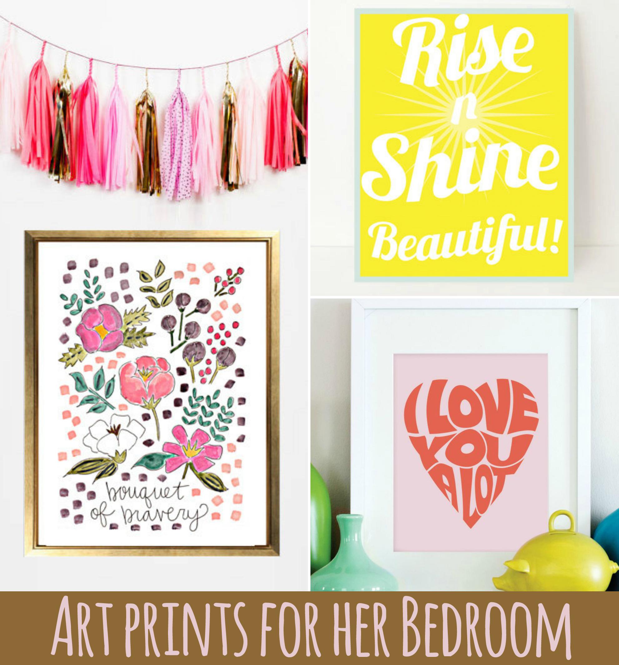 . Art Prints for Her Bedroom