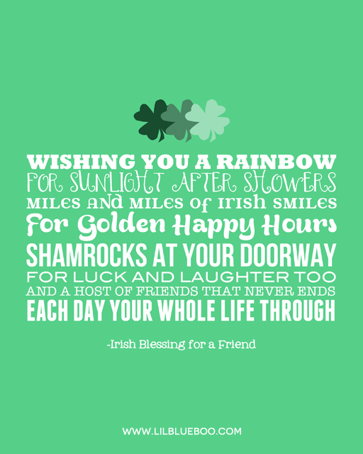 Free St. Patrick's Day 8x10 Printable Artwork with Green Background via Ashley Hackshaw / lilblueboo.com