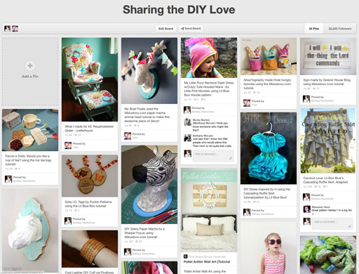 DIY Project Pinterest Board Lil Blue Boo